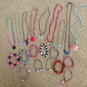 Huge bundle of little girl costume jewelry